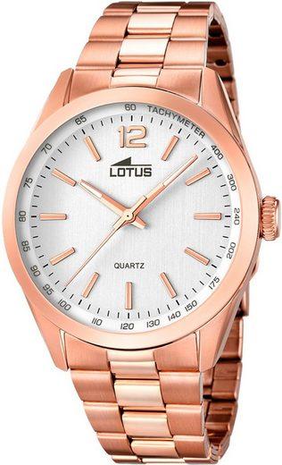 Lotus Quarzuhr »UL18148/1 Lotus Herren Uhr Elegant L18148/1 Stahl«, (Analoguhr), Herren Armbanduhr rund, Edelstahlarmband kupfer