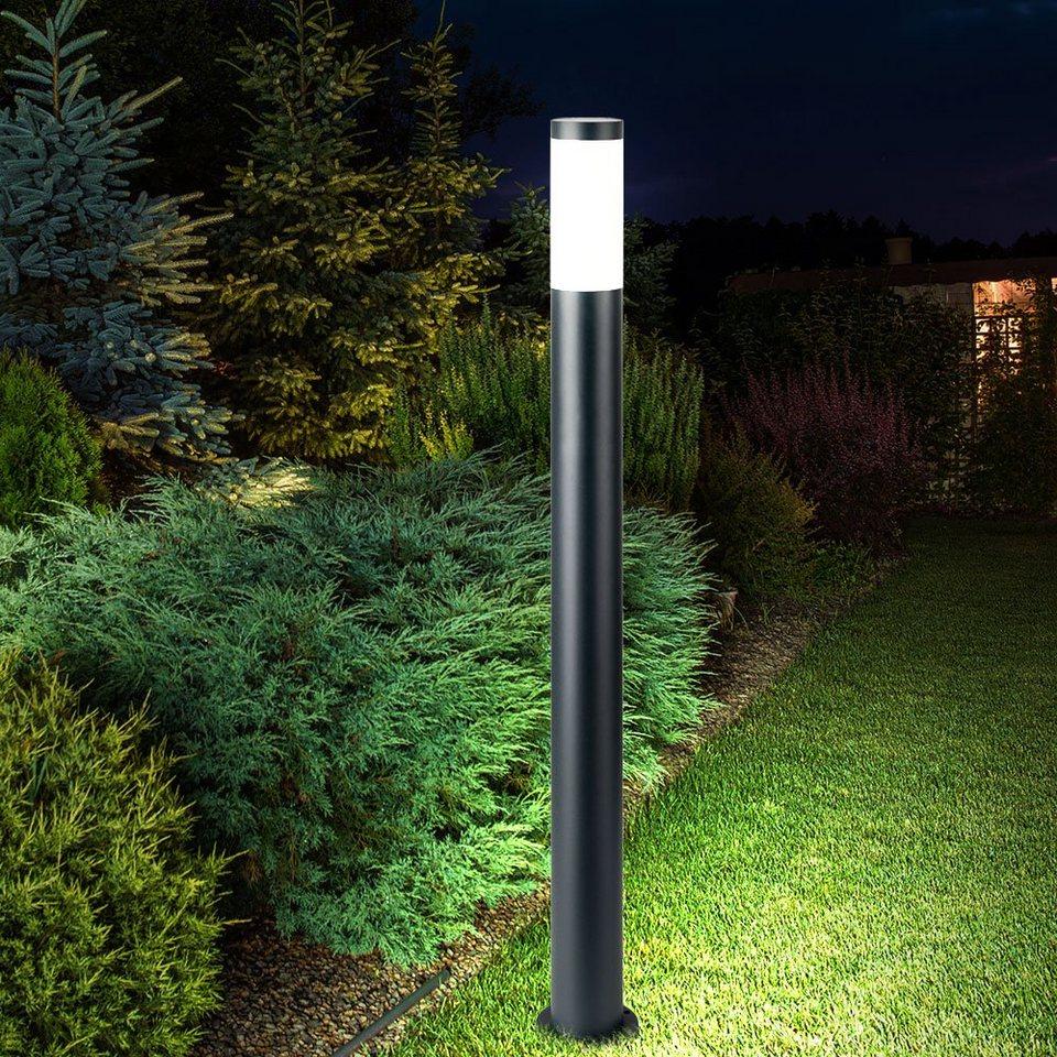 etc shop Sockelleuchten, Außen Steh Leuchte ANTHRAZIT Garten Weg  Beleuchtung Terrassen Lampe im Set inkl. LED Leuchtmittel online kaufen    OTTO