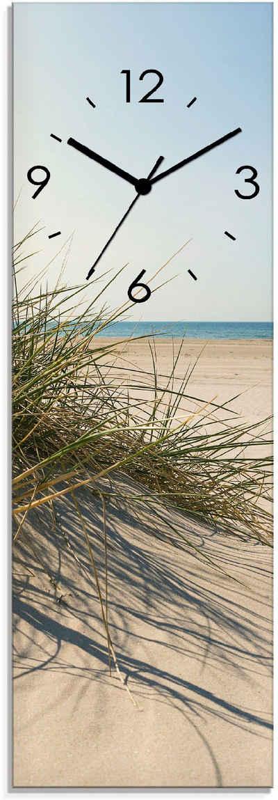 Artland Wanduhr »Strandgras« (lautlos, ohne Tickgeräusche, nicht tickend, geräuschlos - wählbar: Funkuhr o. Quarzuhr, moderne Uhr für Wohnzimmer, Küche etc. - Stil: modern)