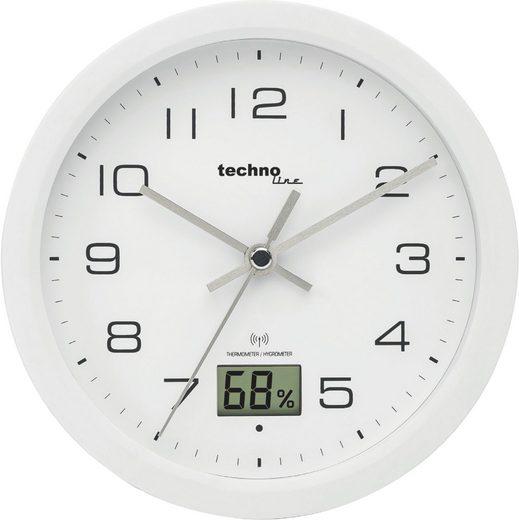 technoline Badezimmeruhr »WT 3100« (mit Temperatur- und Luftfeuchteanzeige)