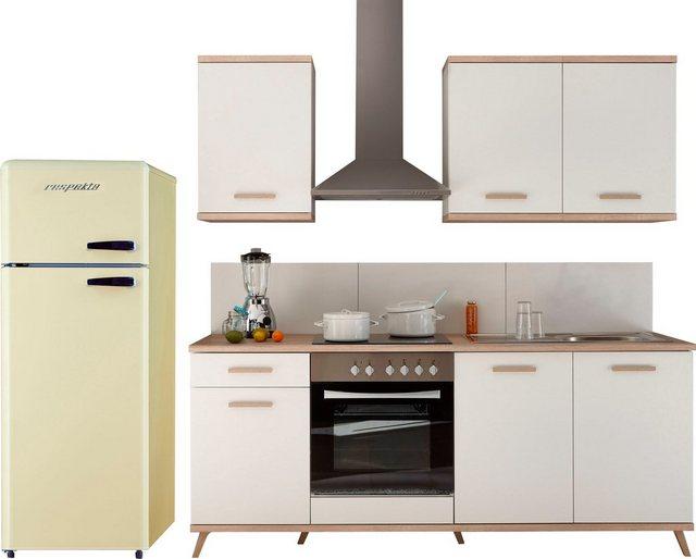 Einbauküchen - RESPEKTA Küchenzeile »Lebu«, mit E Geräten, Breite 265 cm  - Onlineshop OTTO