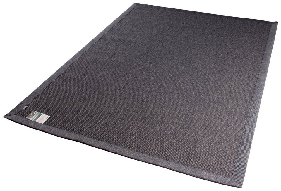 Teppich, In- und Outdoor, Dekowe, »Tempe«, Melange-Effekt, gewebt, Sisaloptik in grau