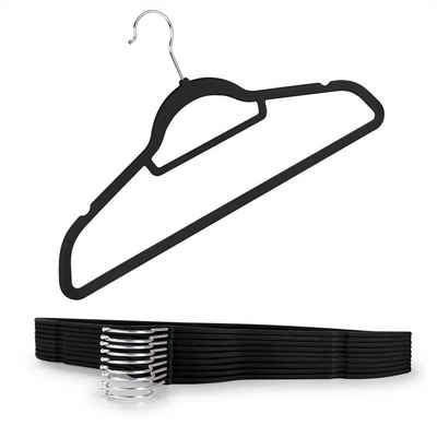 Blumtal Kleiderbügel »Rutschfeste Bügel Samtoptik - Platzsparende, Premium Bügel inkl. Krawattenhalter, 360° drehbar«, (20-tlg)