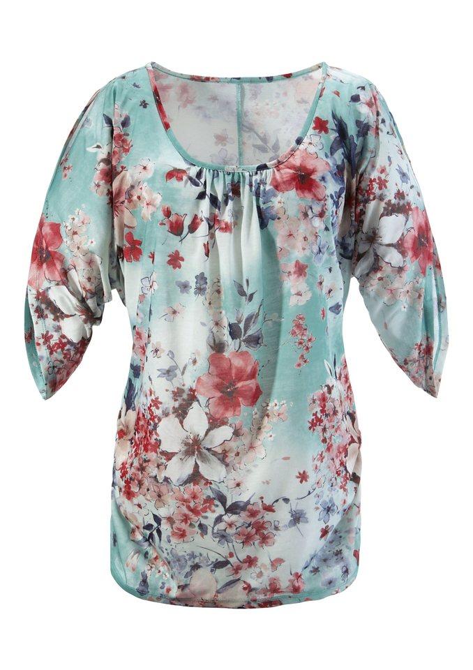 Aniston Longshirt in türkis-bedruckt