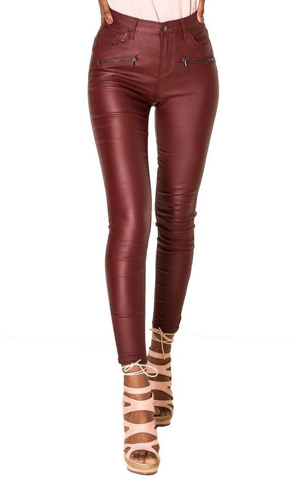 simply chic -  Lederimitathose »2929« Stretch Hose in Leder Optik mit 2 Zippern