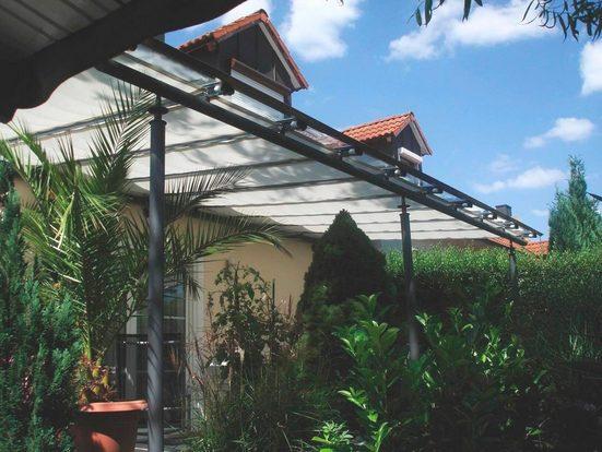 FLORACORD Sonnensegel , BxL: 330x140 cm, silbergrau