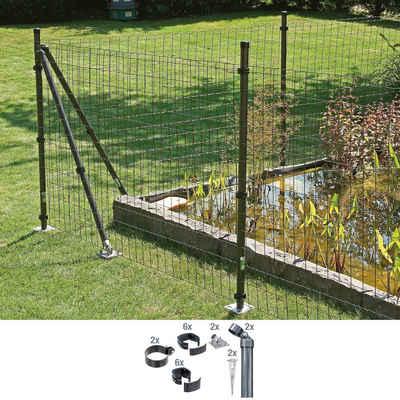 GAH Alberts Zaunpfosten »Verbinder Fix-Clip Pro®«, (Set), 2-seitig für Ø 6x102 cm, zum Aufschrauben