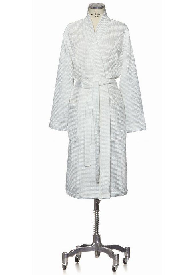 Kimono, Möve, »Homewear«, Piquée-Oberfläche in weiß