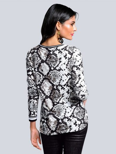 Alba Moda Print-Shirt im Snake-Design
