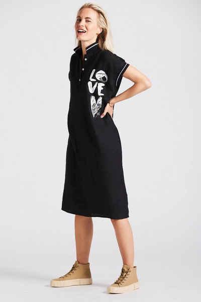 Andijamo-Fashion Polokleid »LOVE« Polokleid mit Print