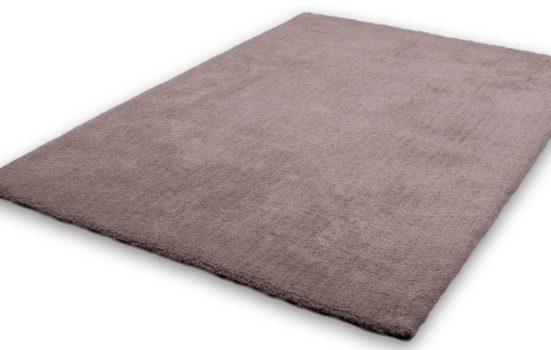 Hochflor-Teppich »Velvet«, LALEE, rechteckig, Höhe 25 mm, Besonders weich durch Microfaser