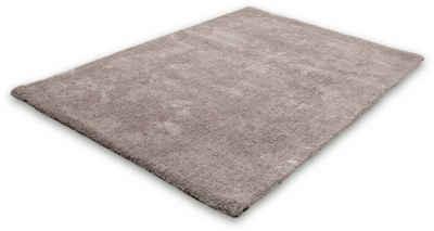 Hochflor-Teppich »Velvet«, LALEE, rechteckig, Höhe 25 mm, Besonders weich durch Microfaser, Wohnzimmer