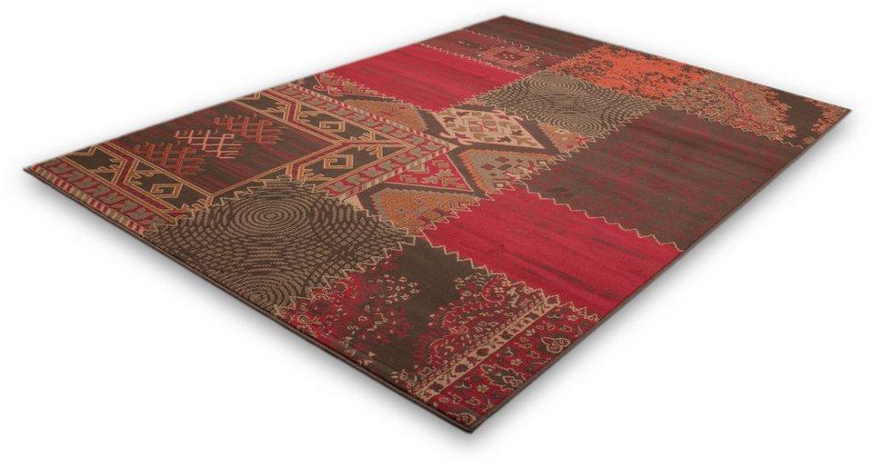 Teppich, Lalee, »Contempo 139 », gewebt in Rot