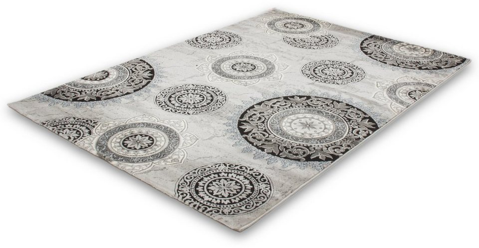 Teppich, Lalee, »Aura 770« in Silber