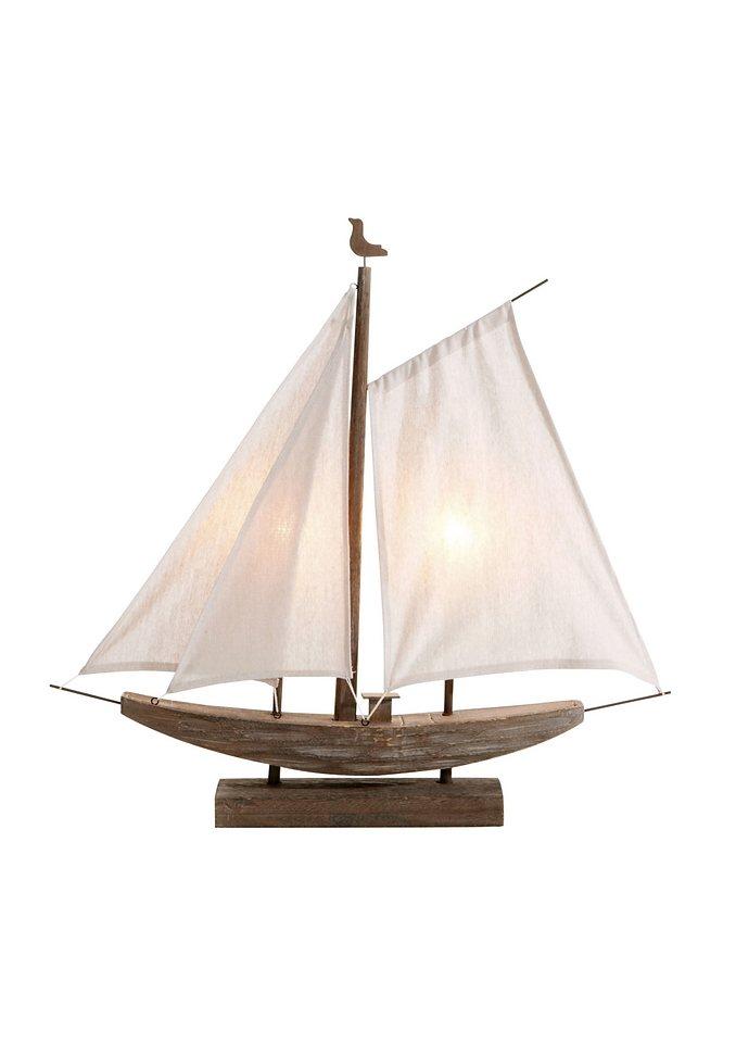 Dekoleuchte »Segelboot« in braun