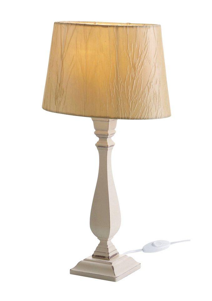 Tischlampe in antikweiß-natur
