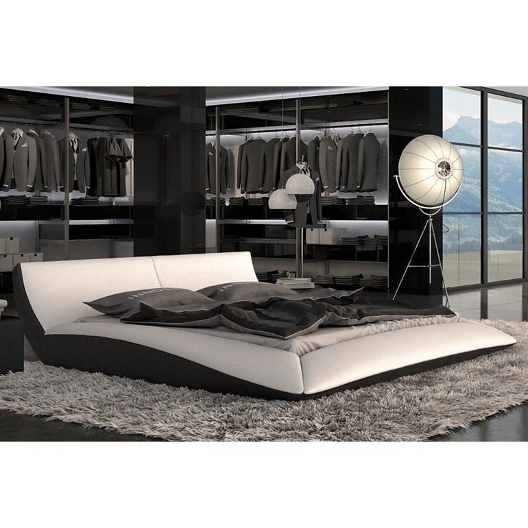 Innocent Polsterbett 180x200cm aus Kunstleder weiß / schwarz »Rigetta«