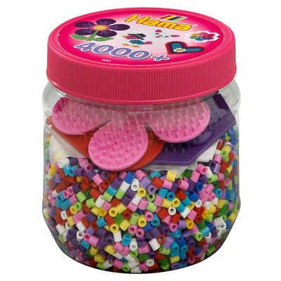 Hama Perlen Bügelperlen »HAMA 2051 Dose pink mit 4.000 midi-Perlen &«