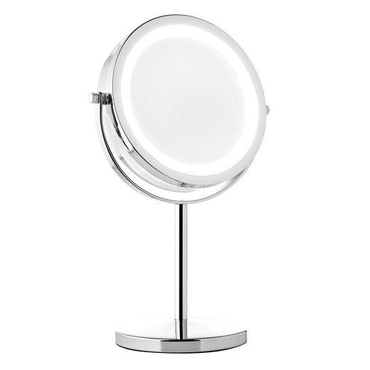 Mucola Kosmetikspiegel »LED 10 fach Schminkspiegel Makeup Spiegel Badspiegel Rasierspiegel Beleuchtung Vergrößerung Badezimmerspiegel Standspiegel«