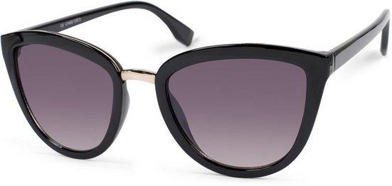 styleBREAKER Sonnenbrille »Cateye Sonnenbrille mit Metallsteg« Getönt