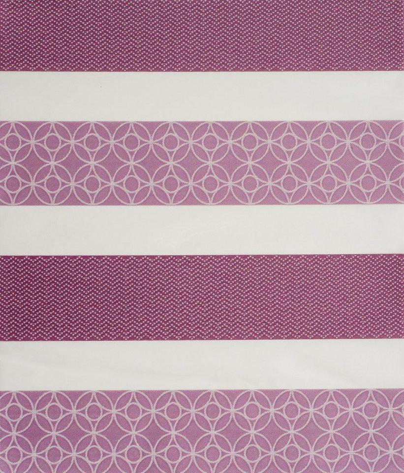 Doppelrollo, Sunlines, »Samos«, im Festmaß, Lichtschutz (1 Stck.) in lila
