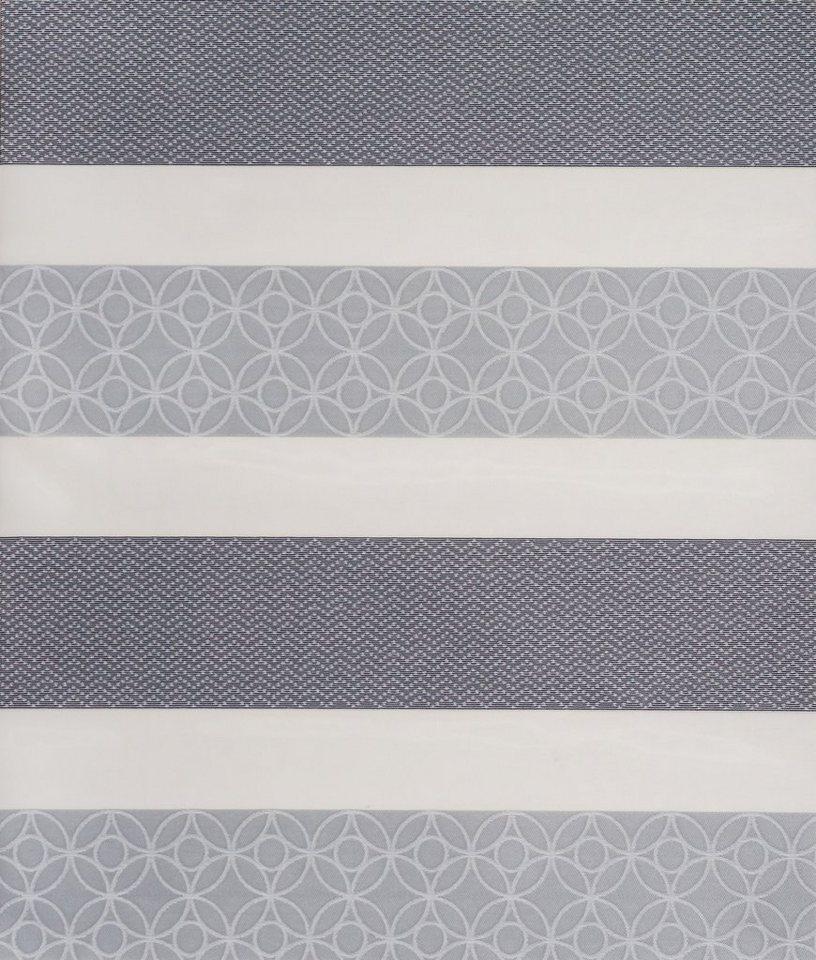 Doppelrollo, Sunlines, »Samos«, im Festmaß, Lichtschutz (1 Stck.) in grau