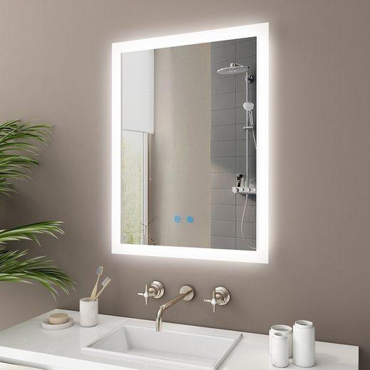 IMPTS Badspiegel, mit LED, Touchschalter Antibeschlag Dimmbar neutralweiss IP44
