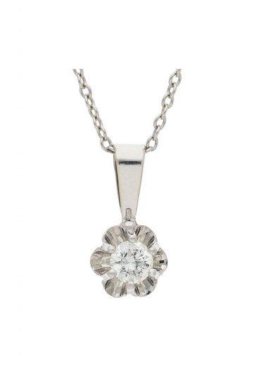 JuwelmaLux Kettenanhänger »Anhänger Weißgold mit Diamant(en)« (1-tlg), Anhänger ohne Kette Weißgold 585/000, inkl. Schmuckschachtel