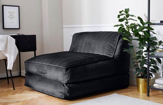 Leonique Relaxsessel »Bailee«, Loungesessel mit Schlaffunktion, Schlafsessel, perfekt als Gästebett, Daybed