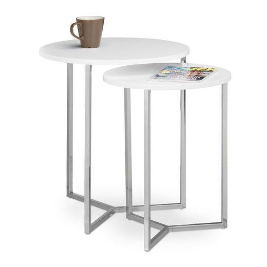 relaxdays Satztisch »Tisch 2er Set rund«