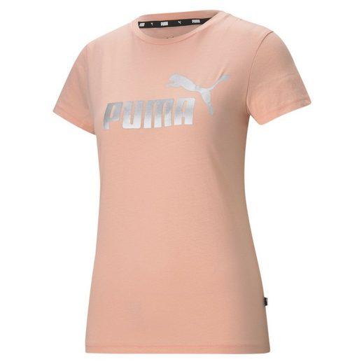 PUMA T-Shirt »Essentials+ Metallic Logo Damen T-Shirt«