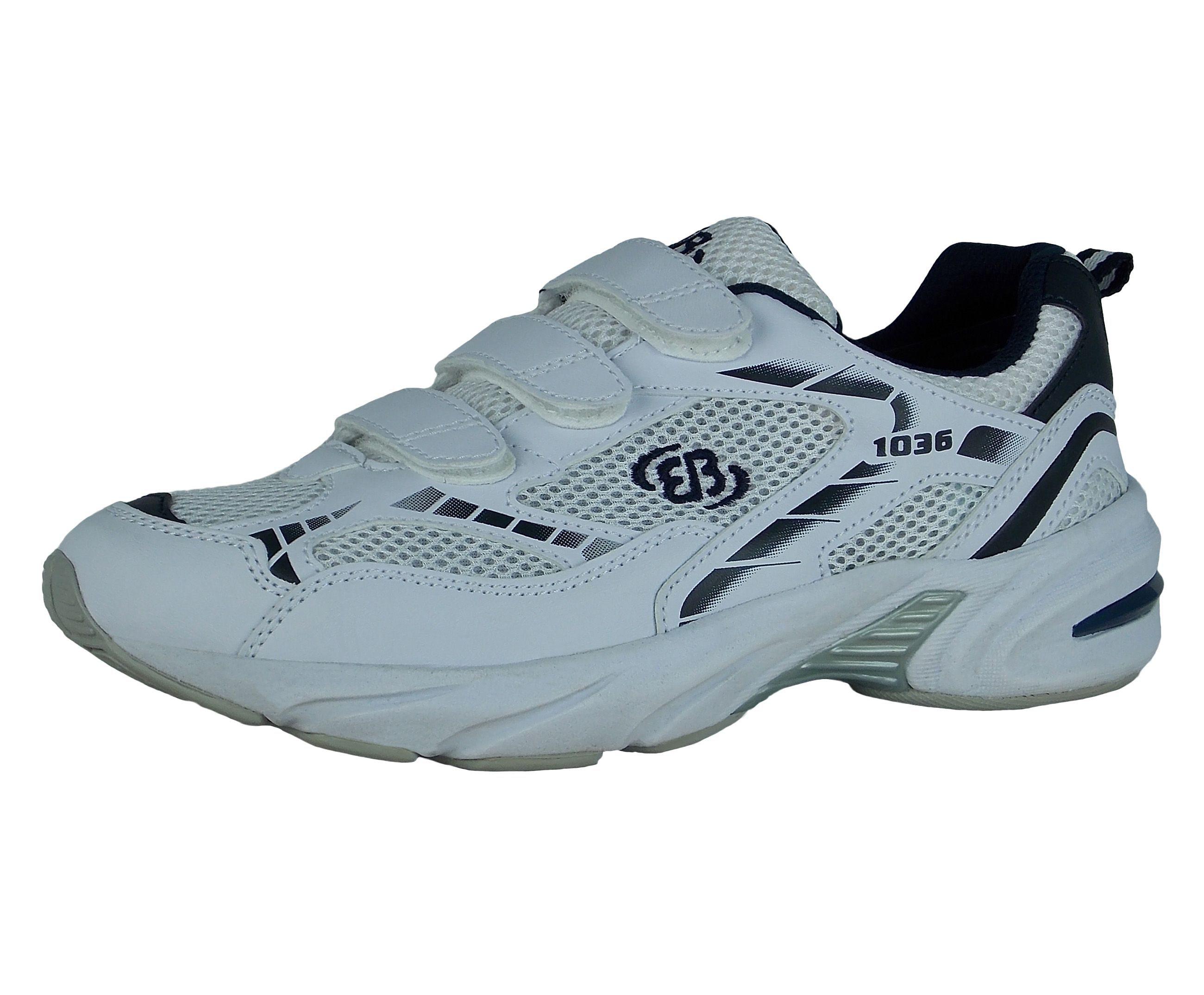 Brütting Joggingschuh mit Klettverschluss - atungsaktives Nylon FORCE V online kaufen  WEISS#ft5_slash#BLAU#ft5_slash#SILBER