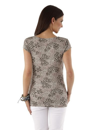 Aniston T-Shirt, mit Wasserfall-Ausschnitt