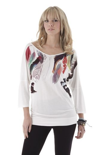 Aniston V-Shirt, mit Frontdruck
