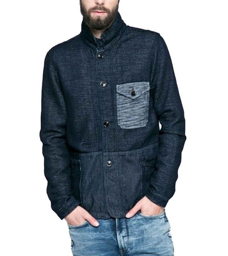 Pepe Jeans Outdoorjacke »Pepe Jeans Coaster Jeans-Jacke leichte Herren Übergangs-Jacke Freizeit-Jacke Blau«