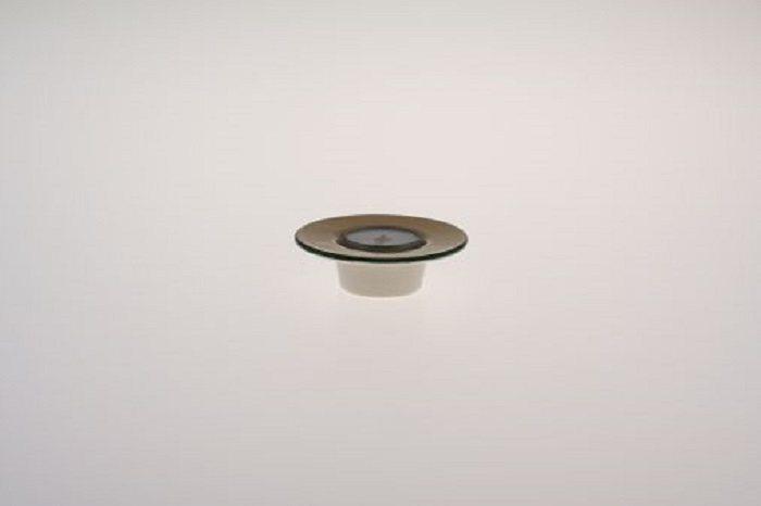 Zeller Keramik Teelichthalter mit weißem Teelicht »Kornfeld« in Mehrfarbig