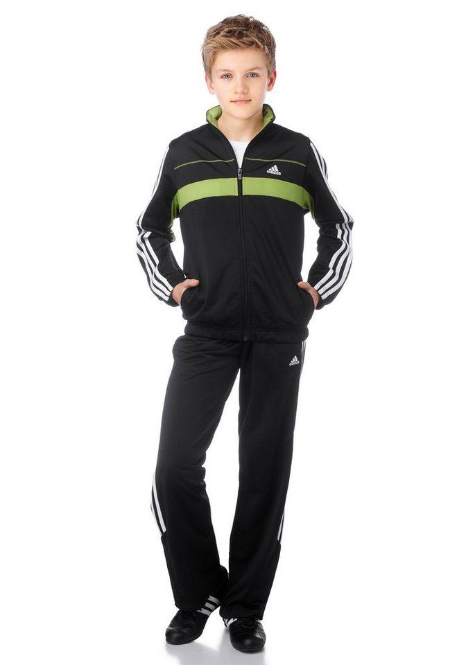 adidas Performance Trainingsanzug in Schwarz-Grün