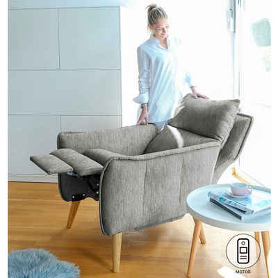 PLACE TO BE. Relaxsessel »Motorischer Relaxsessel Ruhesessel Funktionssessel Insideout mit Fernbedienung«, Motorischer Relaxsessel Ruhesessel Funktionssessel Insideout mit Fernbedienung