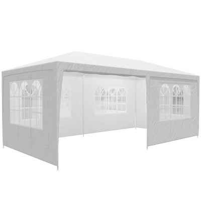 Casaria Partyzelt »Rimini«, weiß 3x6m UV-Schutz 18m² Wasserabweisend 6 Seitenteile Pavillon Partyzelt Gartenzelt Festival