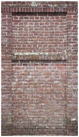 BODENMEISTER Fototapete »3d Effekt Steinwand Vintage rot«, Rolle 2,80x1,59m