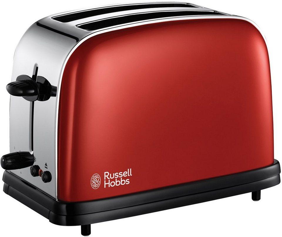 Russell Hobbs Toaster »Colours Flame Red 18951-56«, für 2 Scheiben, 1200 Watt in rot