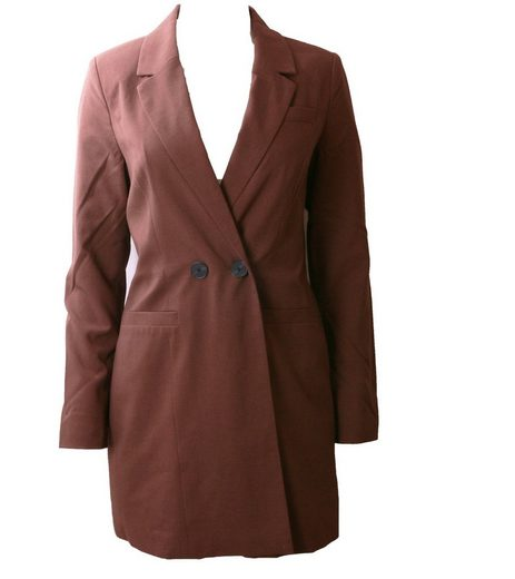 Vero Moda Kurzblazer »VERO MODA Blazer Business-Blazer moderner Damen Zweireih-Blazer Lang-Blazer Braun«