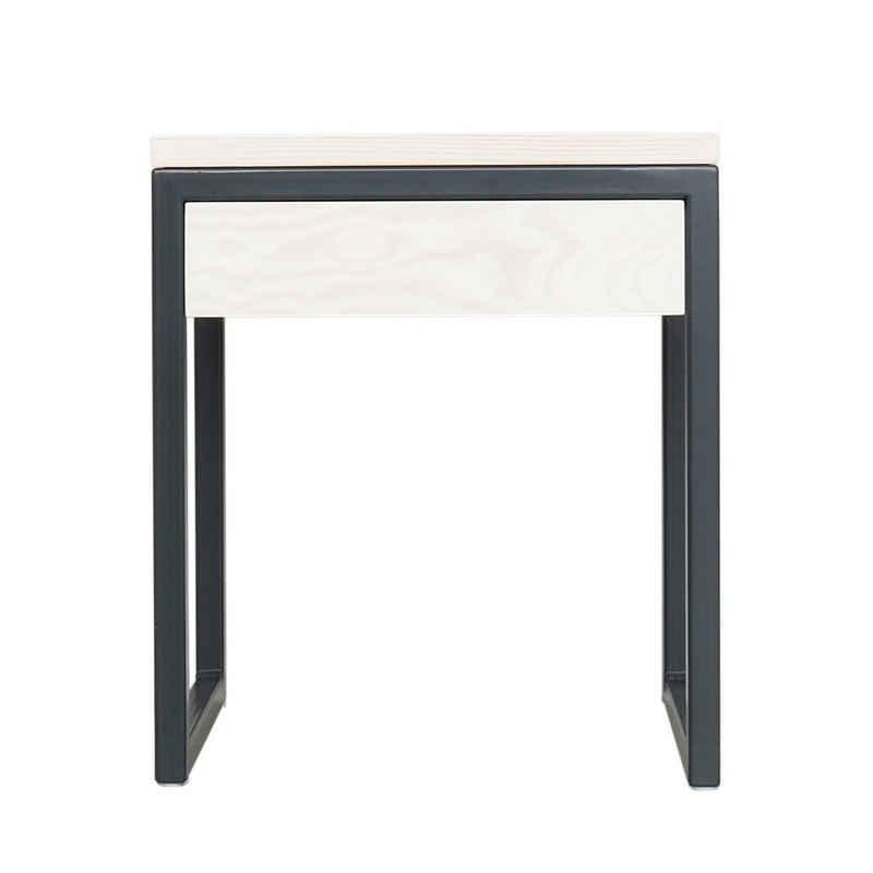 JOHANENLIES Nachttisch »Upcycling Nachttisch LUBERON«, Puristisch. Minimalistisch. Nachhaltig. Handgefertigt. individualisierbar