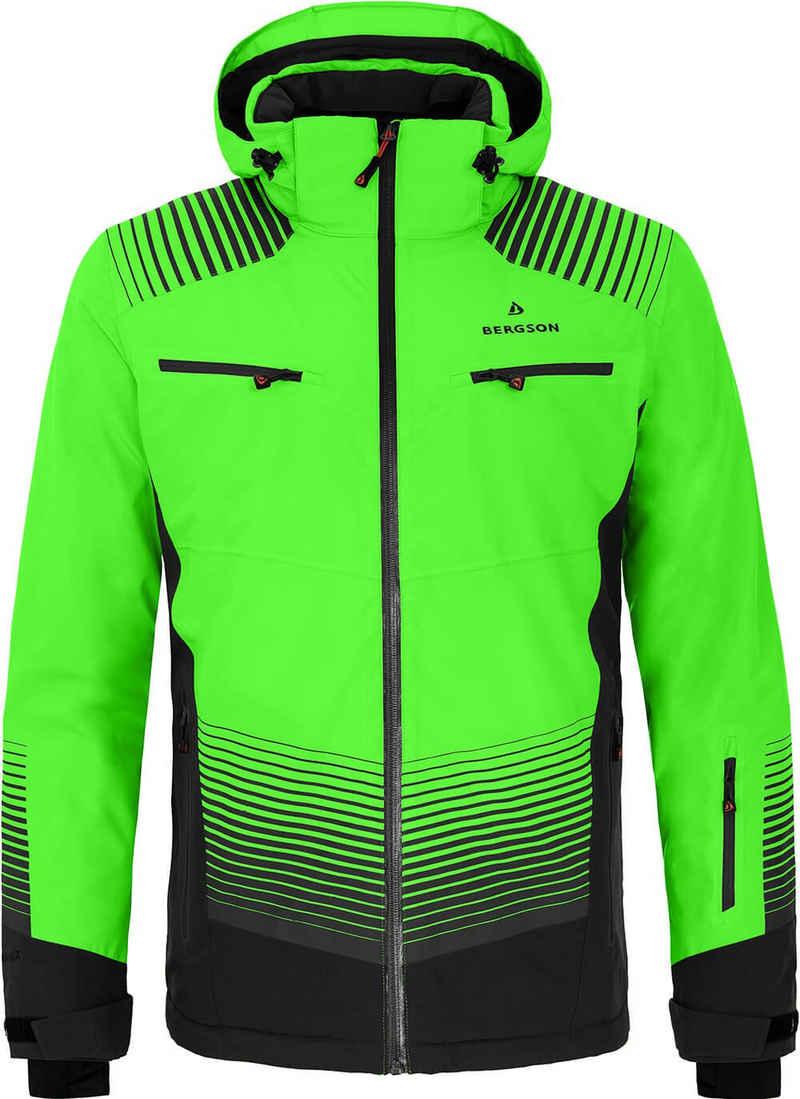 Bergson Skijacke »TAAVI« Herren Skijacke, wattiert, 20000 mm Wassersäule, Normalgrößen, Gecko grün