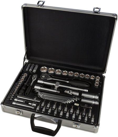 WGB BASIC PLUS Steckschlüsselsatz 70-tlg. Steckschlüssel-Garnitur, im Aluminiumkoffer