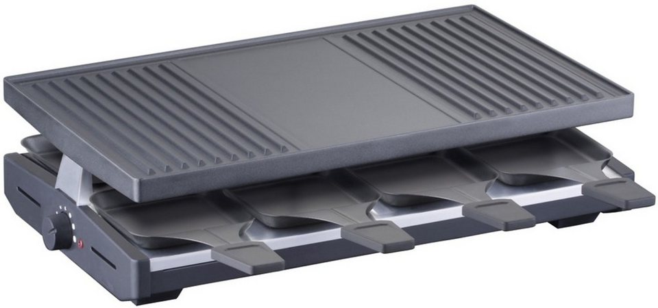 Steba Raclette RC 38, 1200 Watt, Edelstahlgehäuse in schwarz