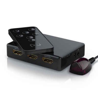 Primewire Audio / Video Matrix-Switch, 5-Port UHD HDMI Switch inkl. Fernbedienung 5x HDMI Eingänge / 4K / 3D / CEC / ARC
