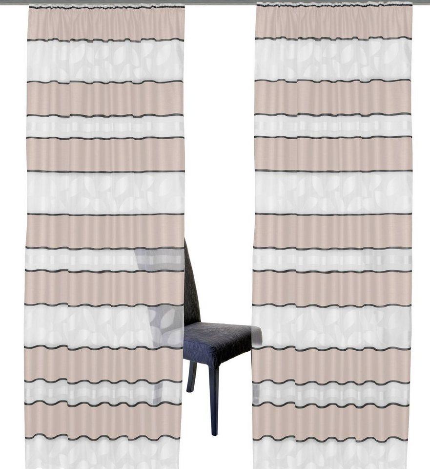 Vorhang, Home Wohnideen, »Malmö« (1 Stück) in sand