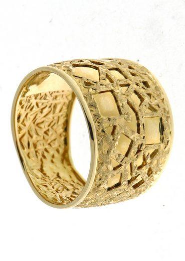 Firetti Goldring »im Verlauf, mit Struktur«, im Verlauf / Struktur matt mit Glanzstücken