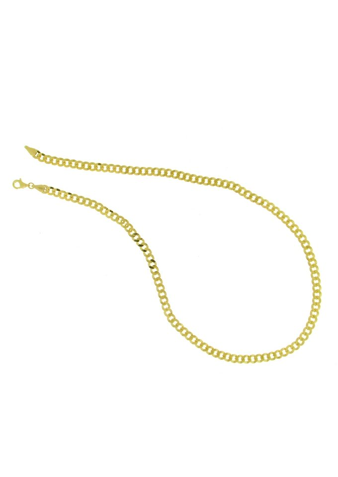 firetti Halsschmuck: Halskette in Panzerkettengliederung, 2-fach diamantiert in goldfarben